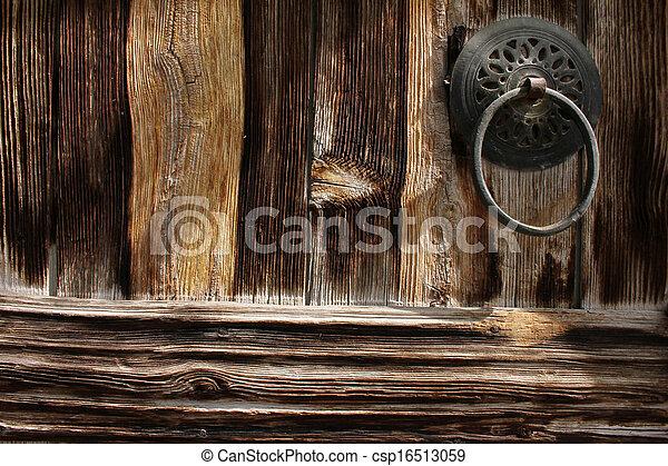 Wood door - csp16513059