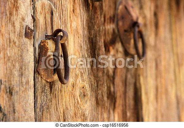 Wood door - csp16516956
