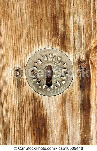 wood door - csp16509448