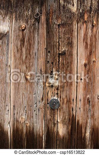 Wood door - csp16513822