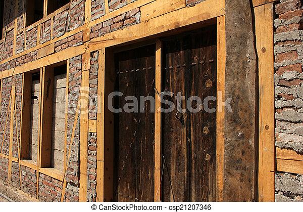 wood door - csp21207346