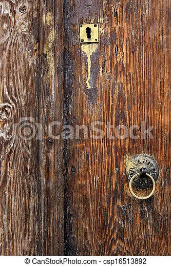 Wood door - csp16513892