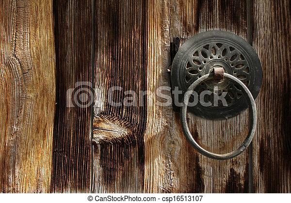 Wood door - csp16513107
