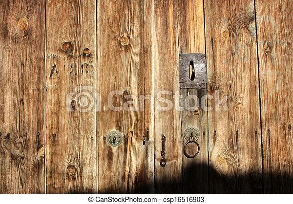 Wood door - csp16516903