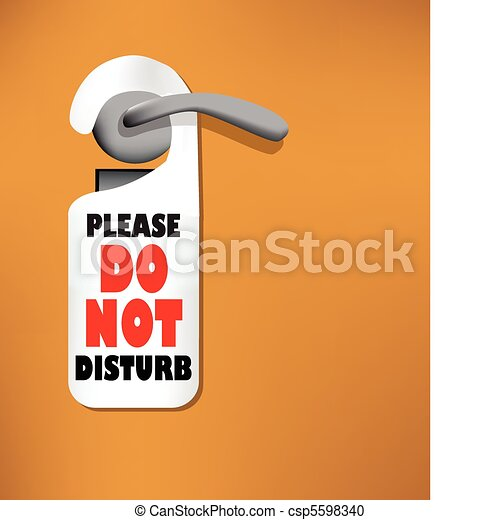 wood door with a do not disturb sign vector clipart search rh canstockphoto com  clipart do not disturb