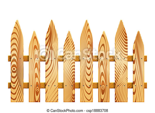wood fence drawing. Wood Fence - Csp18883708 Drawing