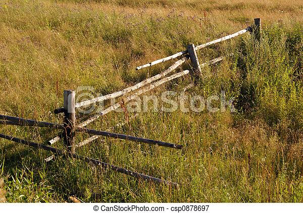 Wood fence - csp0878697