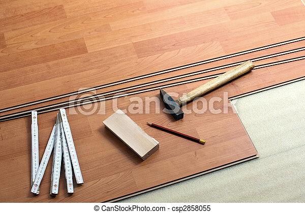 wood flooring and tools - csp2858055