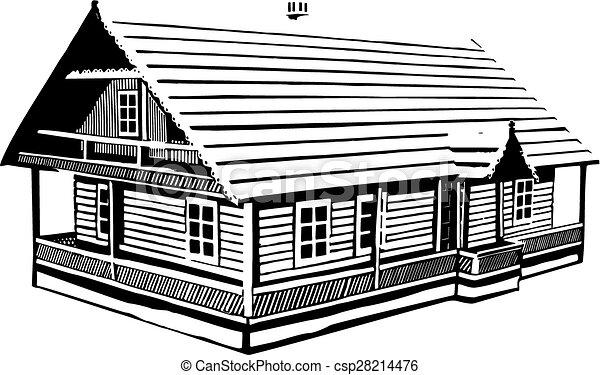 Elegant Wood House   Csp28214476