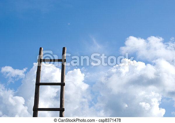 Wood ladder - csp8371478
