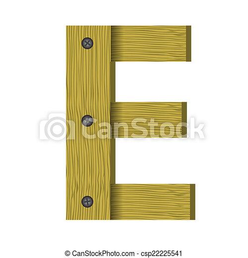 wood letter E - csp22225541