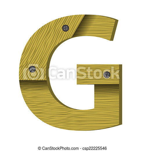 wood letter G - csp22225546