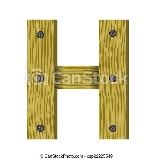 wood letter H - csp22225549