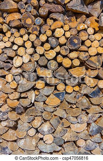 Wood log background - csp47056816