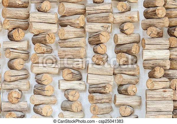 Wood log background textured - csp25041383