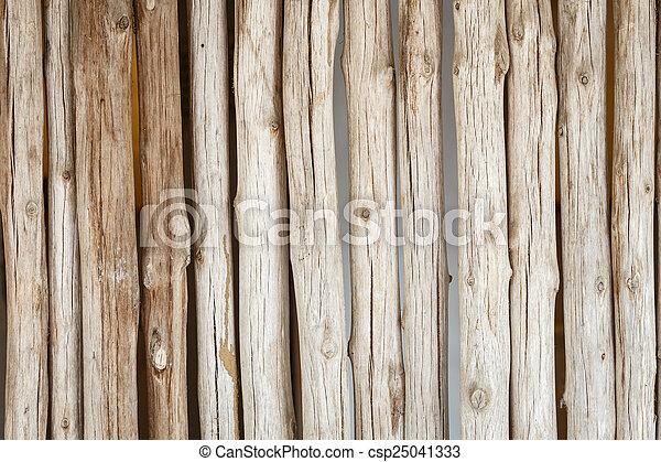 Wood log background textured - csp25041333