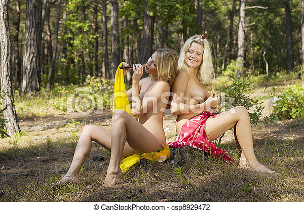 Authoritative point Naked girl nymphs join. And