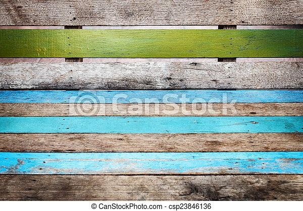 Wood plank background - csp23846136