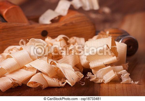 Wood shavings - csp18733481