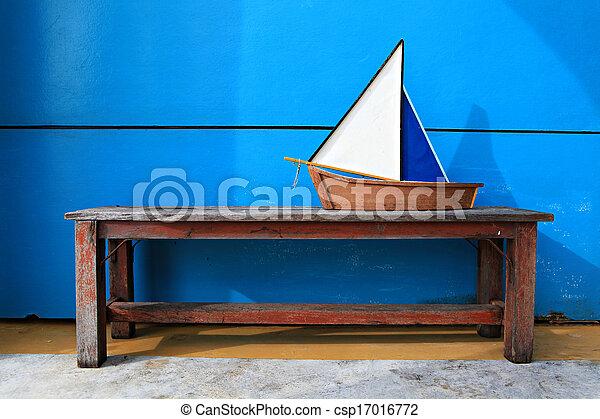 Wood Ship model - csp17016772