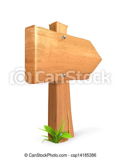 Wood sign - csp14185386