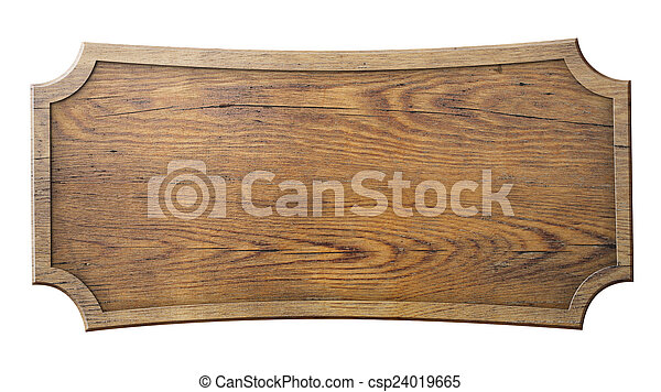 wood sign isolated on white  - csp24019665