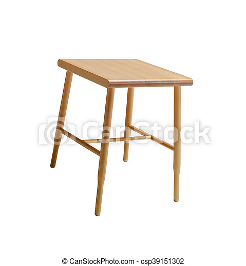 Wood stool isolated on a white background - csp39151302