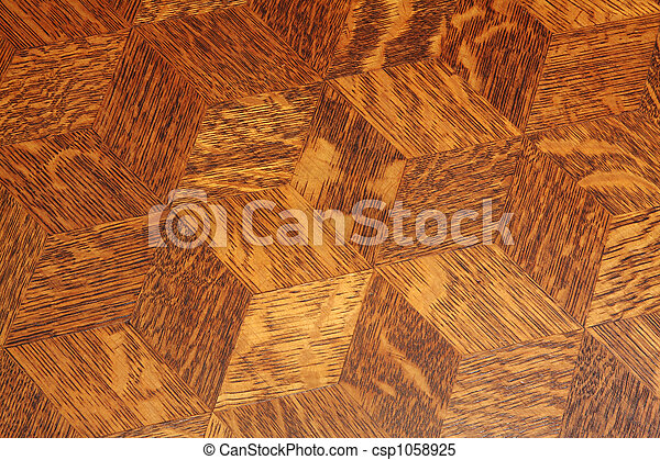 Stock Images of Wood table top background Wood inlay pattern on