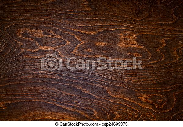 wood texture of dark brown color close up - csp24693375