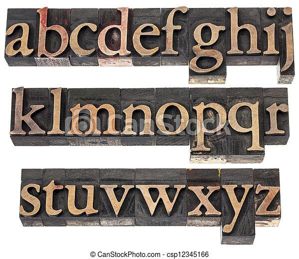 wood type alphabet - csp12345166