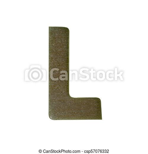 Wood type on white background - csp57076332
