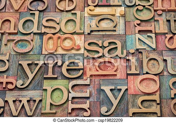 wood type printing blocks - csp19822209