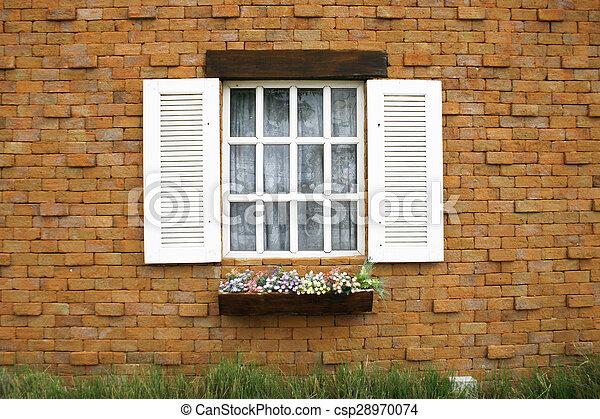wood window - csp28970074