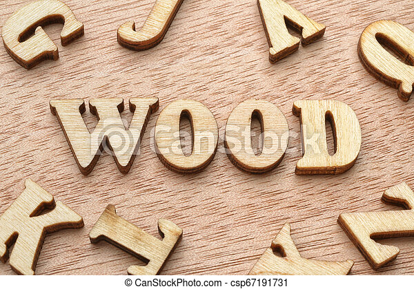 Wood word wooden letters - csp67191731