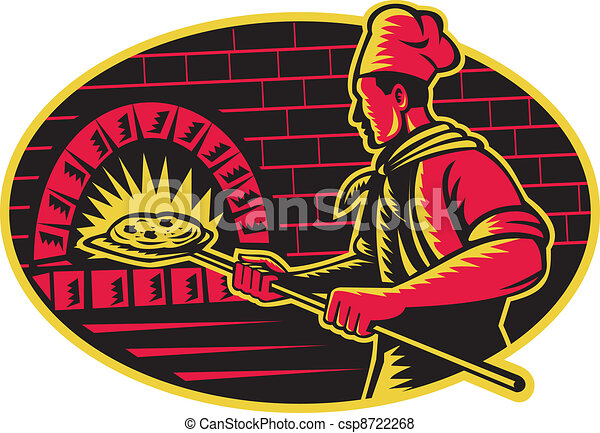 woodc cuisson boulanger bois four pizza illustration vecteur search clip art. Black Bedroom Furniture Sets. Home Design Ideas