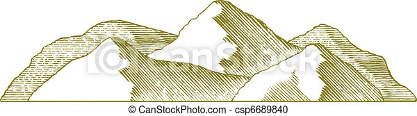 Woodcut Mountain - csp6689840