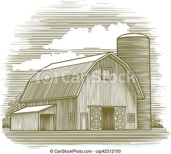 Granero Ilustraciones de Clip Art Vectorial. 7.523 Granero dibujos ...