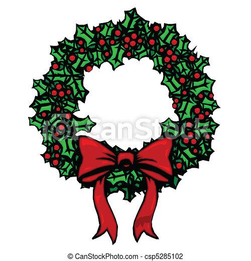 Woodcut wreath - csp5285102