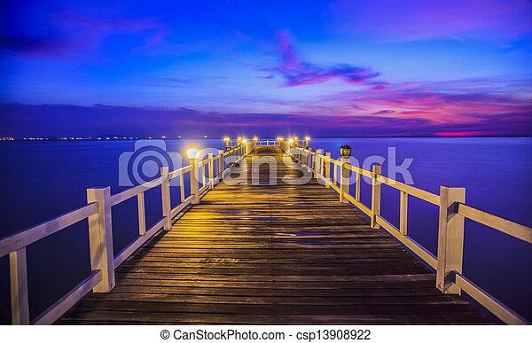 Wooded bridge - csp13908922