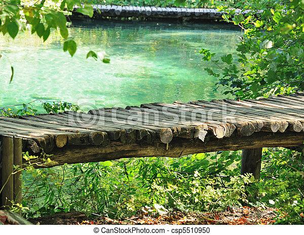 wooden út, tó - csp5510950