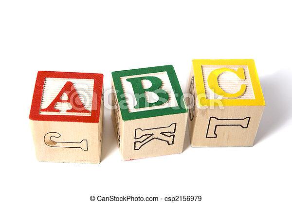 Wooden ABC Blocks - csp2156979