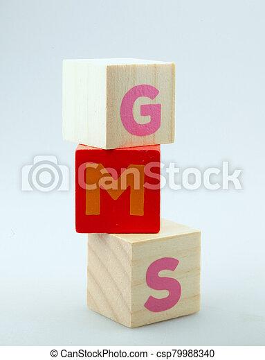 Wooden Alphabet Blocks Isolated On White Background - csp79988340