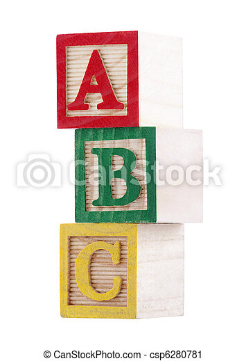 Wooden alphabet blocks - csp6280781