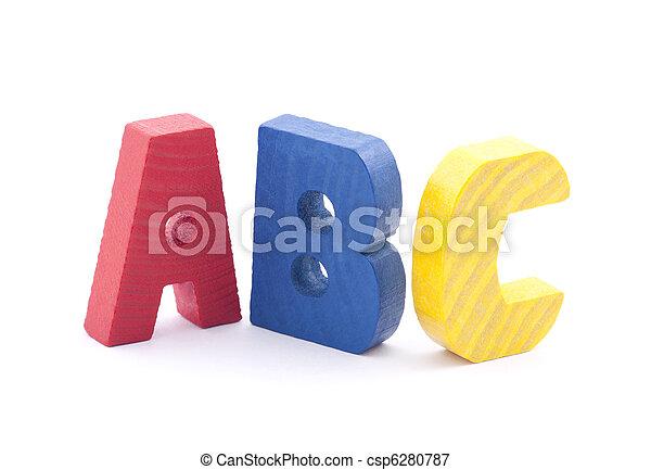 Wooden alphabet blocks - csp6280787