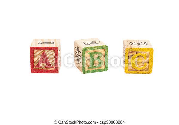 Wooden alphabet blocks - csp30008284