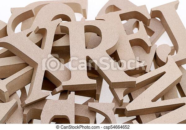 wooden alphabet blocks - csp54664652