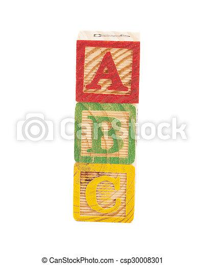 Wooden alphabet blocks - csp30008301