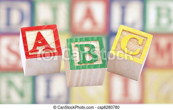 Wooden alphabet blocks - csp6280780