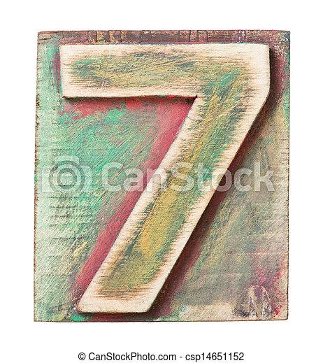 Wooden alphabet - csp14651152