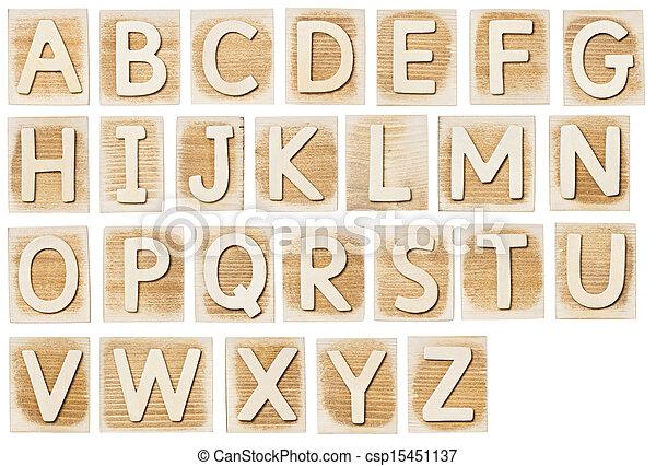 Wooden alphabet - csp15451137